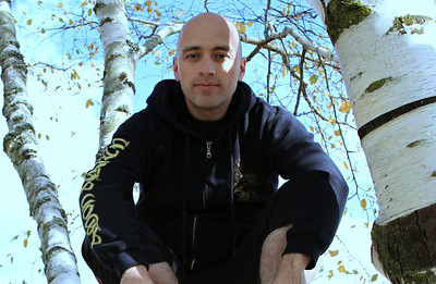 Yup, that's me, in a tree, hanging out on a beautiful day in Portland sporting my Amon Amarth hoodie.
