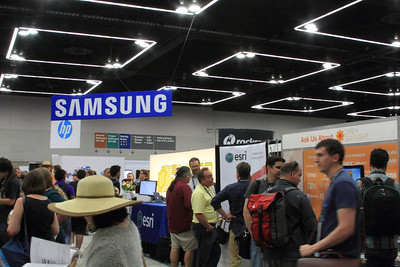ESRI hanging out below the Samsung Sign... or is that perception?  (Click for full size)