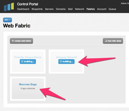 Tier 3: Control Portal: Web Fabric