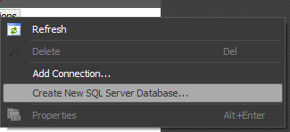 Create a New SQL 2008 Database