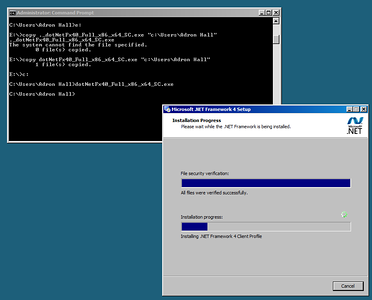Installing .NET 4.0 for Server Core