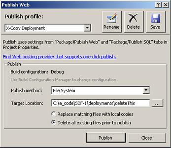 Deployment Publication Options