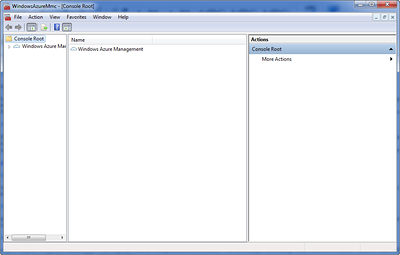 Windows Azure Management Tool (MMC)