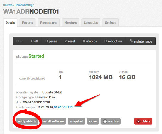 Step #4 Add the public IP Address