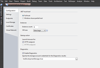 Windows Azure Instance Properties