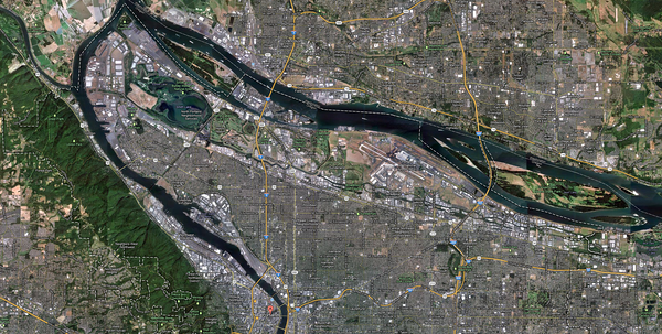 Portland, focused on northern segment. Click for full size image.