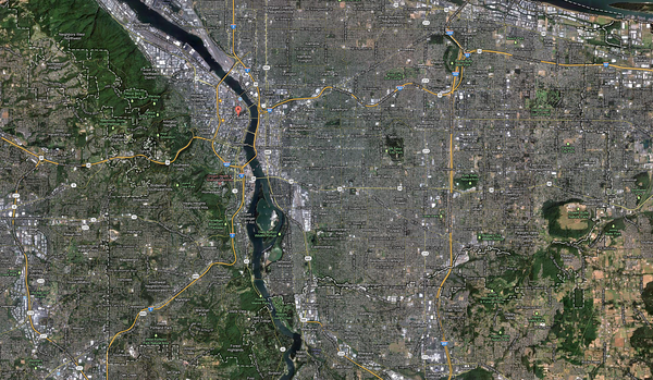 Portland, focused around the southern areas. Click for full size image.