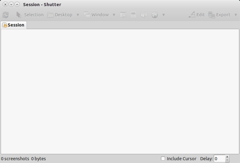 Shutter Launched and read to make screenshots.